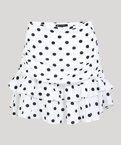 Saia-Feminina-Mindset-Curta-Estampada-de-Poas-em-Camadas-Branca-9734175-Branco_5