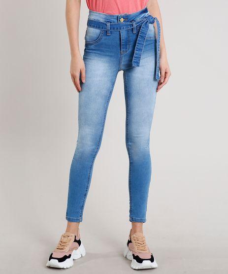 Calca-Jeans-Feminina-Sawary-Skinny-com-Faixa-para-Amarrar-Azul-Claro-9619279-Azul_Claro_1