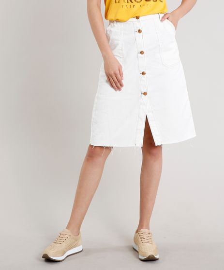Saia-de-Sarja-Feminina-Midi-com-Botoes-e-Bolsos-Off-White-9678764-Off_White_1