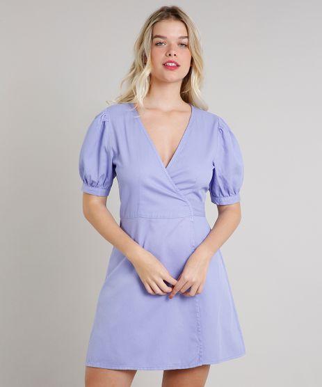 Vestido-Feminino-Mindset-Curto-Envelope-Manga-Bufante-Lilas-9734176-Lilas_1