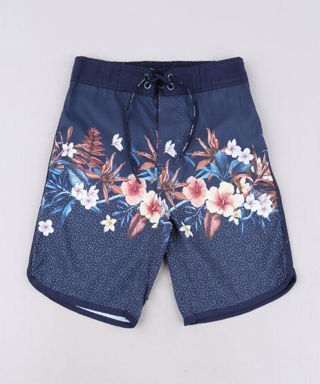Bermuda-Surf-Infantil-Estampada-Floral-Azul-9559492-Azul_1