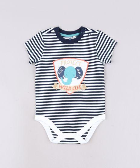 Body-Infantil-Listrado-com-Patch-de-Elefante-Manga-Curta-Azul-Marinho-9570936-Azul_Marinho_1
