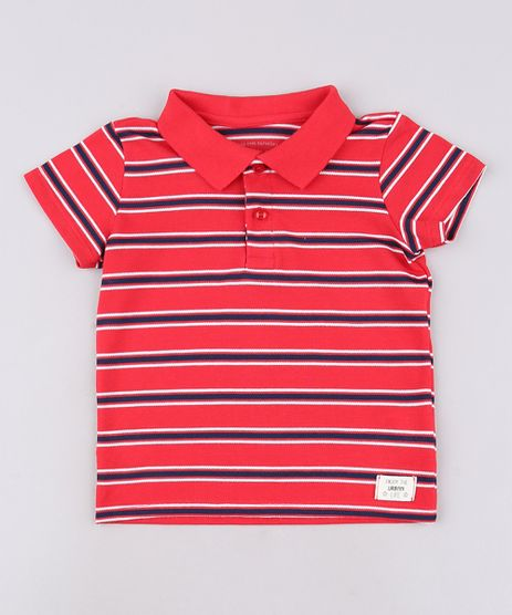 Polo-Infantil-Listrada-em-Piquet-Manga-Curta-Vermelha-9621072-Vermelho_1