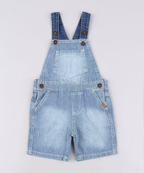 Jardineira-Jeans-Infantil-Listrada-com-Bolsos-Azul-Medio-9635847-Azul_Medio_1