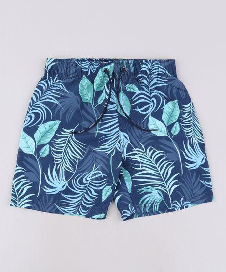 Bermuda-Infantil-Estampada-de-Folhagens-com-Cordao-Azul-Marinho-9559408-Azul_Marinho_1