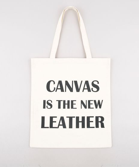 Sacola-Eco-Bag-Feminina-Mindset--Canvas-is-the-New-Leather--Bege-Claro-9688661-Bege_Claro_1