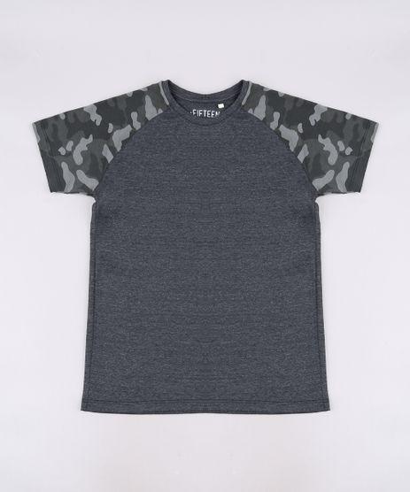Camiseta-Infantil-Raglan-com-Estampa-Camuflada-Manga-Curta-Cinza-Mescla-Escuro-9660947-Cinza_Mescla_Escuro_1