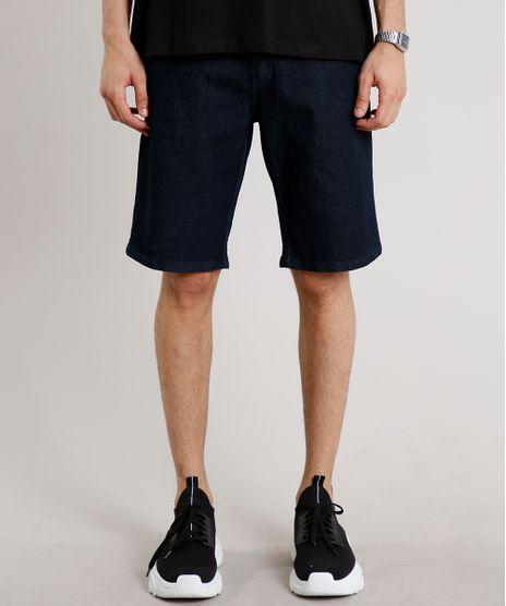 Bermuda-Jeans-Masculina-Slim-com-Bolsos-Azul-Escuro-9594235-Azul_Escuro_1