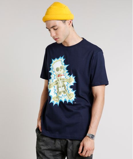 Camiseta-Masculina-Bart-Simpson-Brilha-no-Escuro-Manga-Curta-Gola-Careca-Azul-Marinho-9607135-Azul_Marinho_1