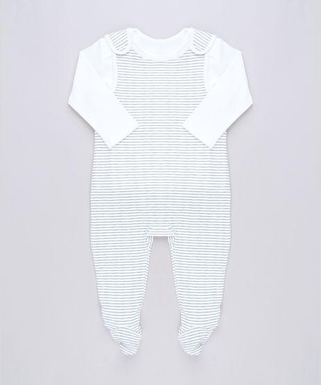 Conjunto-Infantil-de-Camiseta-Manga-Longa---Macacao-Listrado-com-Pezinho-Sem-Manga-Off-White-9584561-Off_White_1