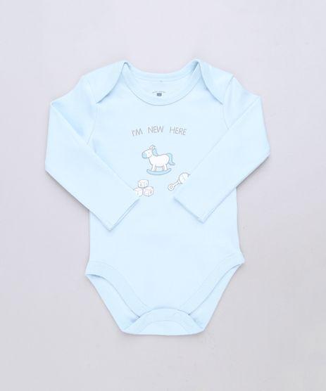Body-Infantil--I-m-New-Here--Manga-Longa-Azul-Claro-9584556-Azul_Claro_1