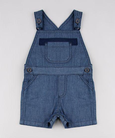 Jardineira-Jeans-Infantil-com-Bolso-Azul-Escuro-9612851-Azul_Escuro_1