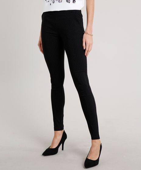 Calca-Legging-Feminina-Estampada-Mini-Print-de-Poa-Preta-9342542-Preto_1