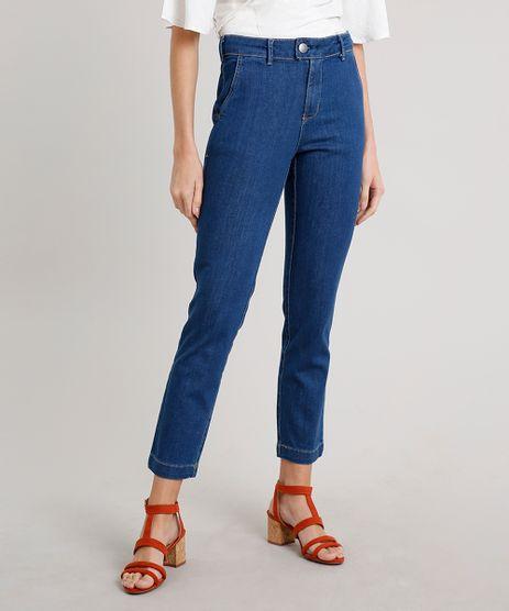 Calca-Jeans-Feminina-Reta-Alfaiatada-Azul-Medio-9664661-Azul_Medio_1