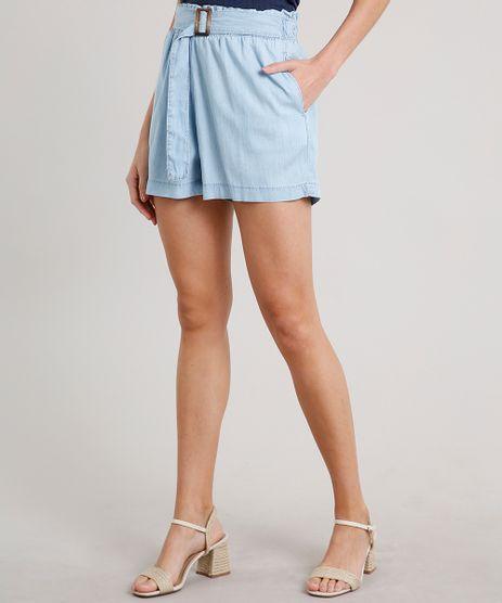 Short-Jeans-Feminino-Clochard-com-Fivela-e-Bolsos-Azul-Claro-9684516-Azul_Claro_1