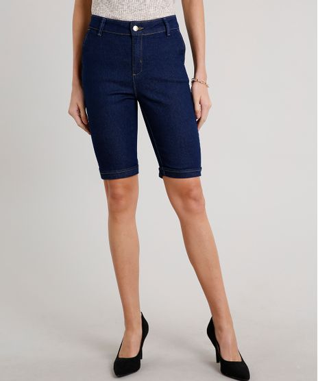 Bermuda-Jeans-Feminina-Ciclista-Alfaiatada-Azul-Escuro-9662970-Azul_Escuro_1