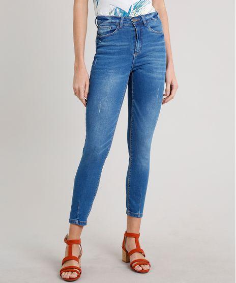 Calca-Jeans-Feminina-Cigarrete-Azul-Medio-9662963-Azul_Medio_1