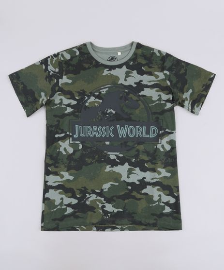 Camiseta-Infantil-Jurassic-World-Estampada-Camuflada-Manga-Curta-Verde-Militar-9668678-Verde_Militar_1