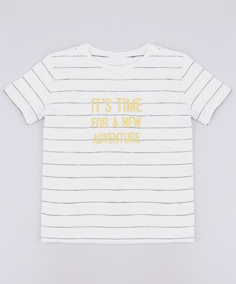 Camiseta-Infantil-Listrada--New-Adventure--Manga-Curta-Off-White-9650799-Off_White_1