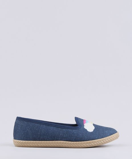 Espadrille-Jeans-Infantil-Molekinha-com-Bordado-de-Arco-Iris-Azul-Escuro-9668054-Azul_Escuro_1