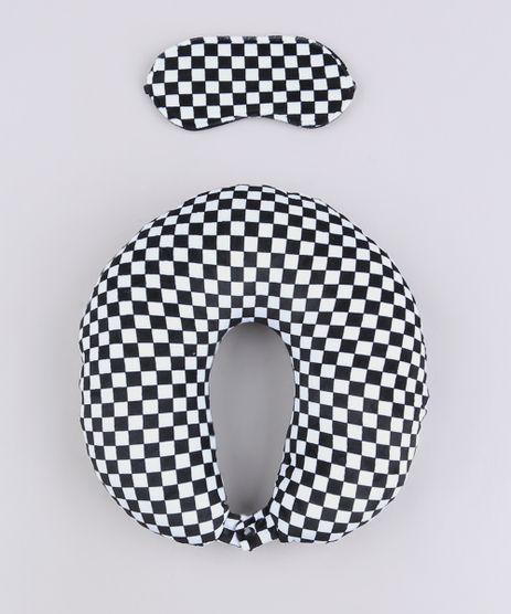 Kit-de-Apoio-de-Pescoco-Estampado-Quadriculado---Tapa-Olho-Preto-9687128-Preto_1