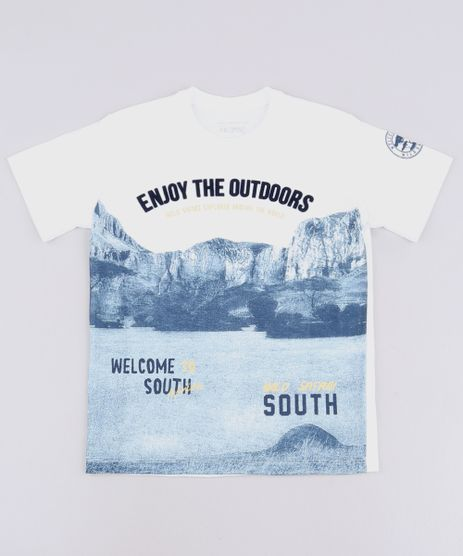 Camiseta-Infantil--Enjoy-the-Outdoors--Manga-Curta-Off-White-9621731-Off_White_1