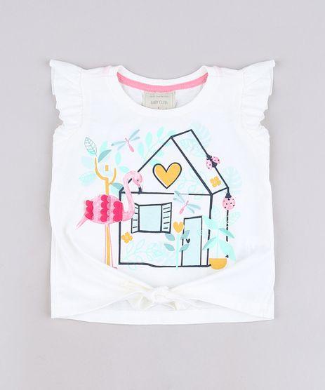 Blusa-Infantil-com-Estampa-de-Flamingo-e-No-Babado-na-Manga-Off-White-9678250-Off_White_1