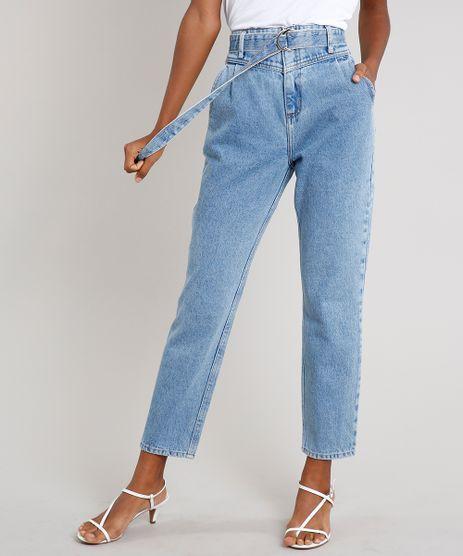 Calca-Jeans-Feminina-Mindset-Clochard-com-Cinto-Azul-Claro-9687364-Azul_Claro_1