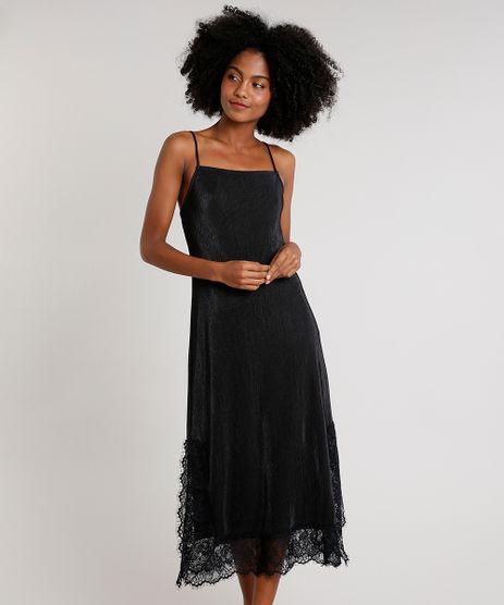Vestido-Slip-Dress-Feminino-Mindset-Midi-Acetinado-Plissado-com-Renda-Alca-Fina-Preto-9721631-Preto_1
