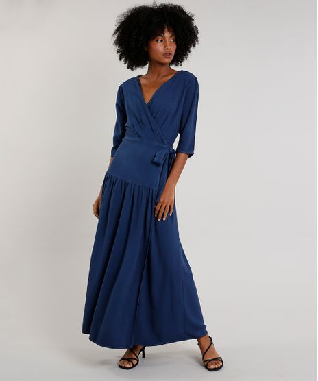 Vestido-Feminino-Mindset-Longo-Envelope-Manga-3-4-Azul-Marinho-9752543-Azul_Marinho_1