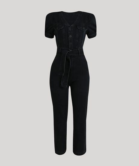 Macacao-Jeans-Feminino-Mindset-com-Bolsos-e-Faixa-para-Amarrar-Manga-Curta-Preto-9734189-Preto_5