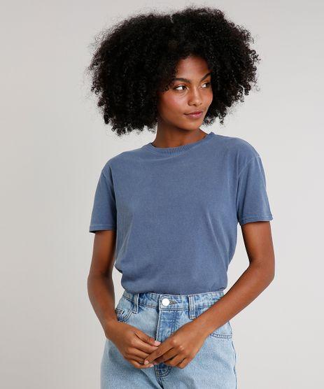 T-Shirt-Feminina-Mindset-Ampla-Manga-Curta-Decote-Redondo-Azul-9765196-Azul_1