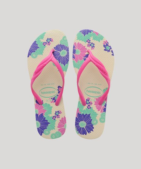 Chinelo-Feminino-Havaianas-com-Estampa-Floral-Kaki-Claro-9598731-Kaki_Claro_1