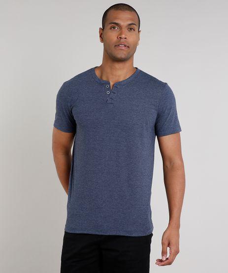 Camiseta-Masculina-Basica-Mescla-Manga-Curta-Gola-Portuguesa-Azul-Marinho-8548141-Azul_Marinho_1