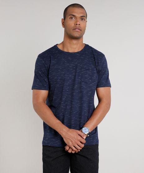 Camiseta-Masculina-Basica-com-Bolso-Manga-Curta-Gola-Careca-Azul-Marinho-9286126-Azul_Marinho_1