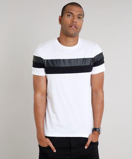 Camiseta-Masculina-Slim-Fit-com-Recortes-Manga-Curta-Gola-Careca-Branca-9635142-Branco_1