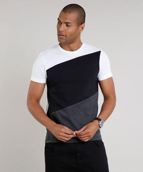 Camiseta-Masculina-Slim-Fit-com-Recortes-Manga-Curta-Gola-Careca-Branca-9635141-Branco_1