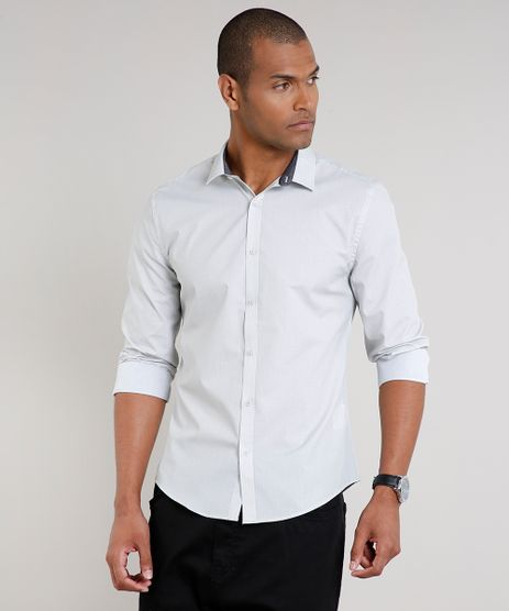 Camisa-Masculina-Slim-Estampada-Mini-Print-Manga-Longa-Kaki-Claro-9516947-Kaki_Claro_1