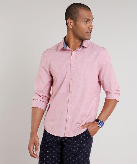 Camisa-Masculina-Comfort-Manga-Longa-Vermelha-Claro-9523388-Vermelho_Claro_1