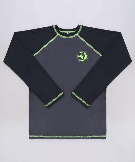 Camiseta-de-Praia-Infantil-Raglan--Beach-Repeat--Manga-Longa-Preta-9655396-Preto_1