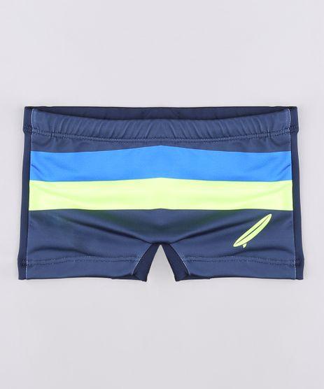Sunga-Infantil-Boxer-com-Listras-Neon-Protecao-UV50--Azul-Marinho-9655361-Azul_Marinho_1