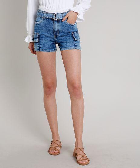 Short-Jeans-Feminino-Reto-Cargo-com-Cinto-Azul-Medio-9669104-Azul_Medio_1