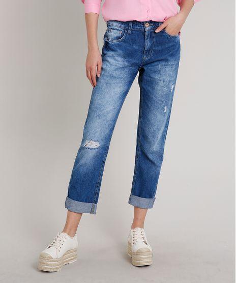Calca-Jeans-Feminina-Sawary-Boyfriend-com-Rasgos-Azul-Escuro-9671823-Azul_Escuro_1