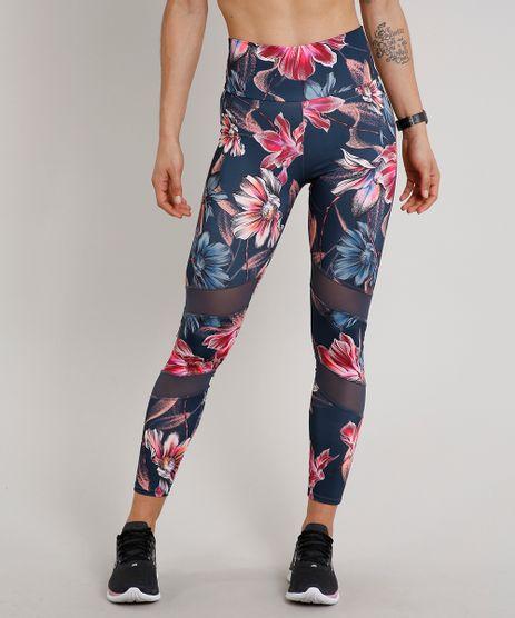 Calca-Legging-Feminina-Esportiva-Ace-Estampada-Floral-com-Recorte-Chumbo-9601109-Chumbo_1