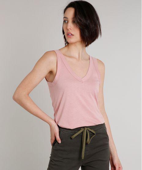 Regata-Feminina-Basica-Decote-V-Alcas-Largas-Rose-9647005-Rose_1