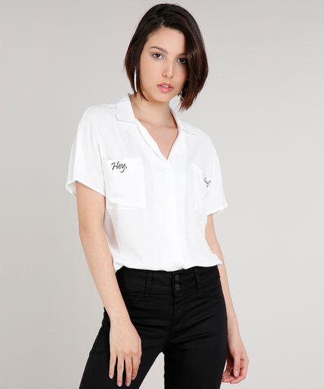 Camisa-Feminina-Ampla-com-Bolso-e-Borbado--Hey-Baby---Manga-Curta--Off-White-9639830-Off_White_1