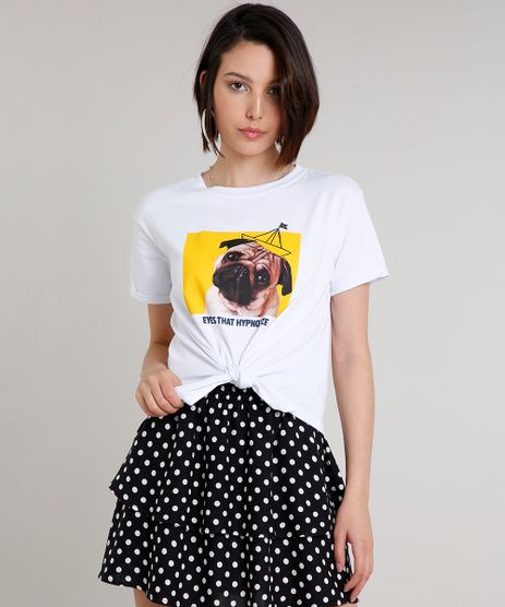Blusa-Feminina-Cachorro-com-No-Manga-Curta-Decote-Redondo-Branca-9615406-Branco_1