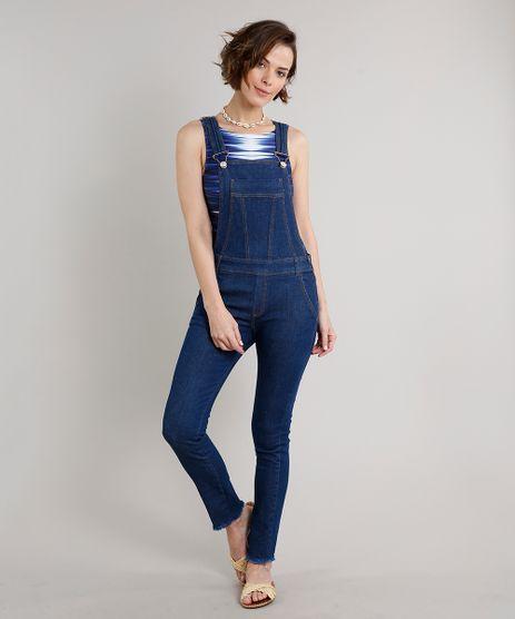 Macacao-Jeans-Feminino-Skinny-com-Bolsos-Barra-Desfiada-Azul-Escuro-9670246-Azul_Escuro_1