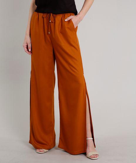 Calca-Feminina-Pantalona-com-Fenda-Caramelo-9688257-Caramelo_1