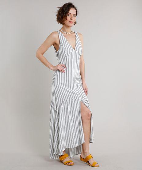 Vestido-Feminino-Longo-Listrado-com-Fenda-e-Babado-Sem-Manga-Off-White-9544748-Off_White_1